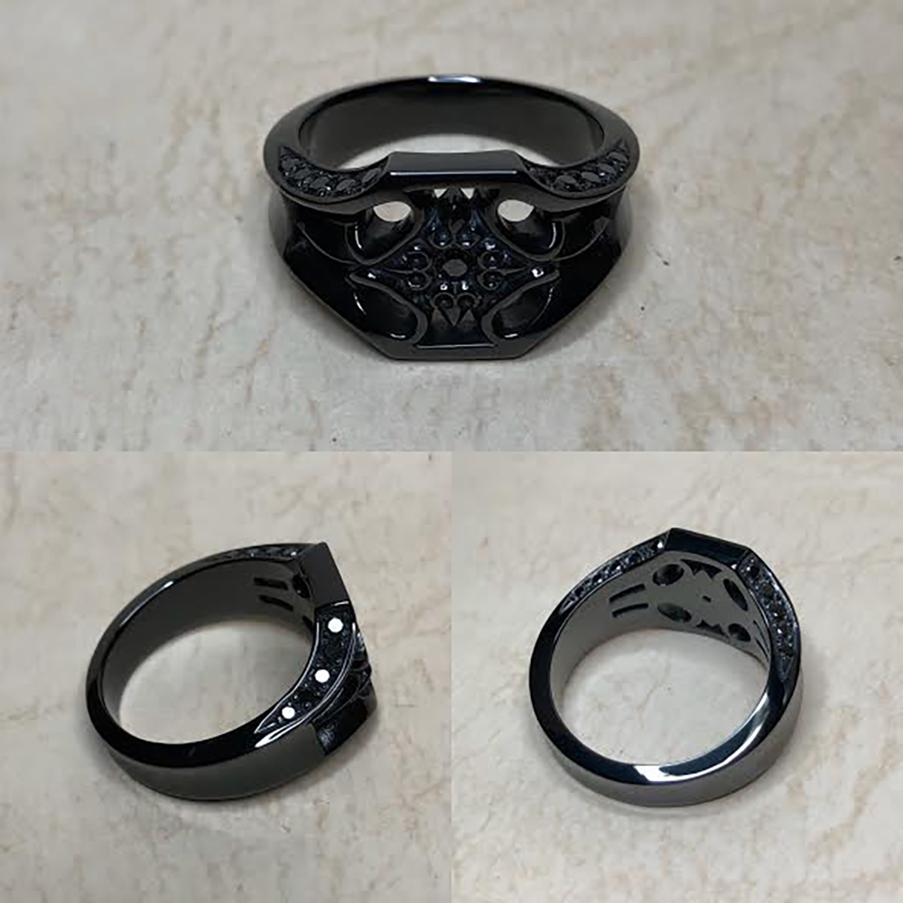 emerge SeR-19 ブラックダイヤモンドカスタムリング【168】