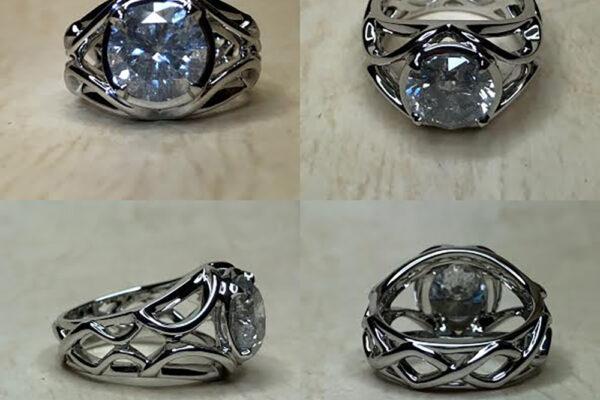 Pt900 3ct ダイヤモンドリング【170】
